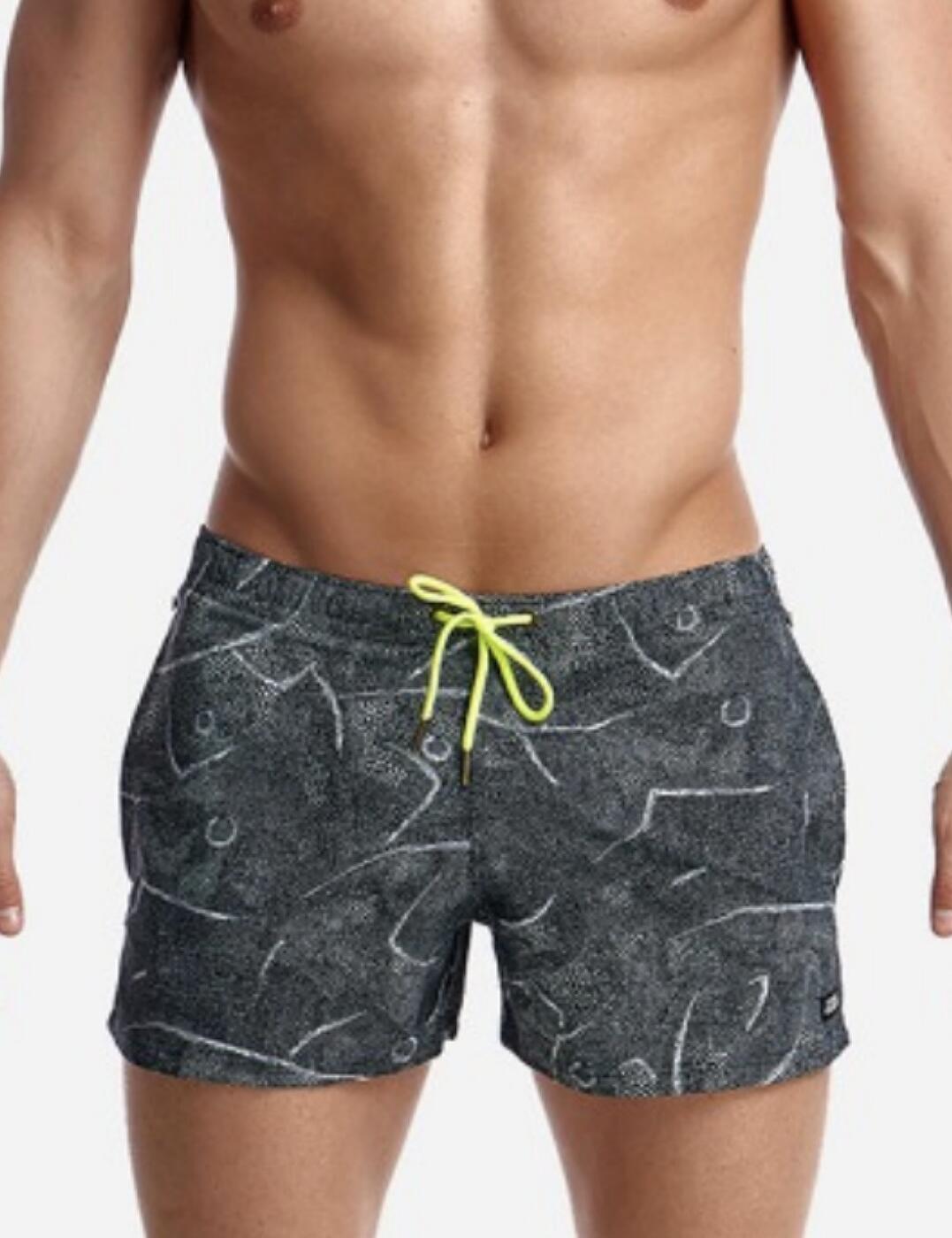 FT40M Funky Trunks Mens 'Shorty Shorts' Swim Short - FT40M02310 Crack Up