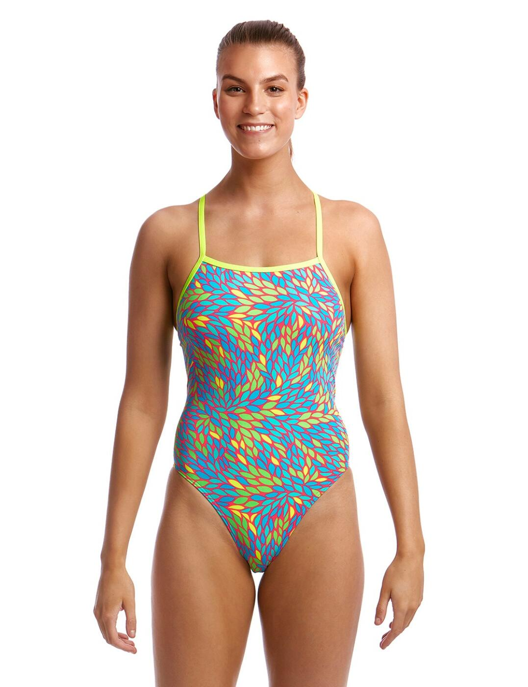 FKS001L Funkita Ladies Tie Me Tight One Piece Swimsuit - FKS001L02321 Leave Me