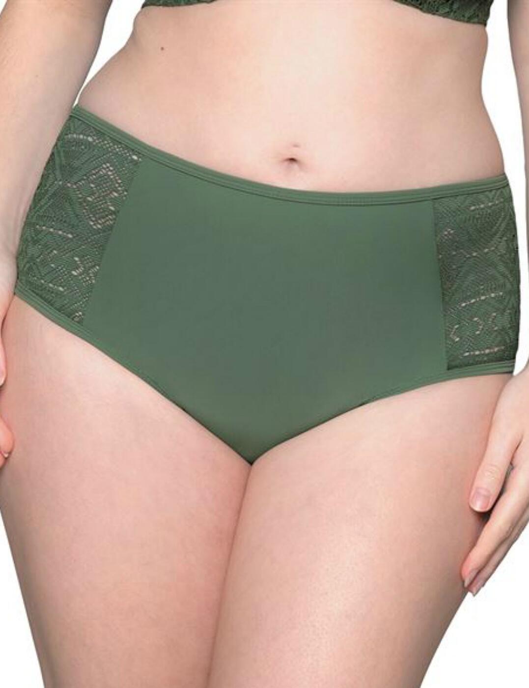CS100250506 Curvy Kate Rush Bikini Short - CS100250506 Olive