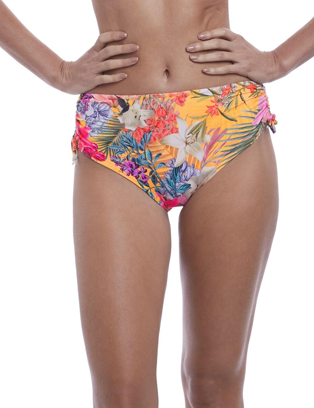6587 Fantasie Anguilla Adjustable Leg Bikini Short - 6587 Saffron