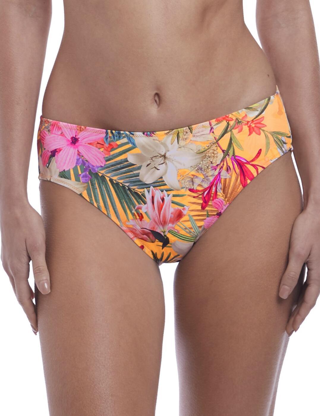 6586 Fantasie Anguilla Mid Rise Bikini Brief - 6586 Saffron