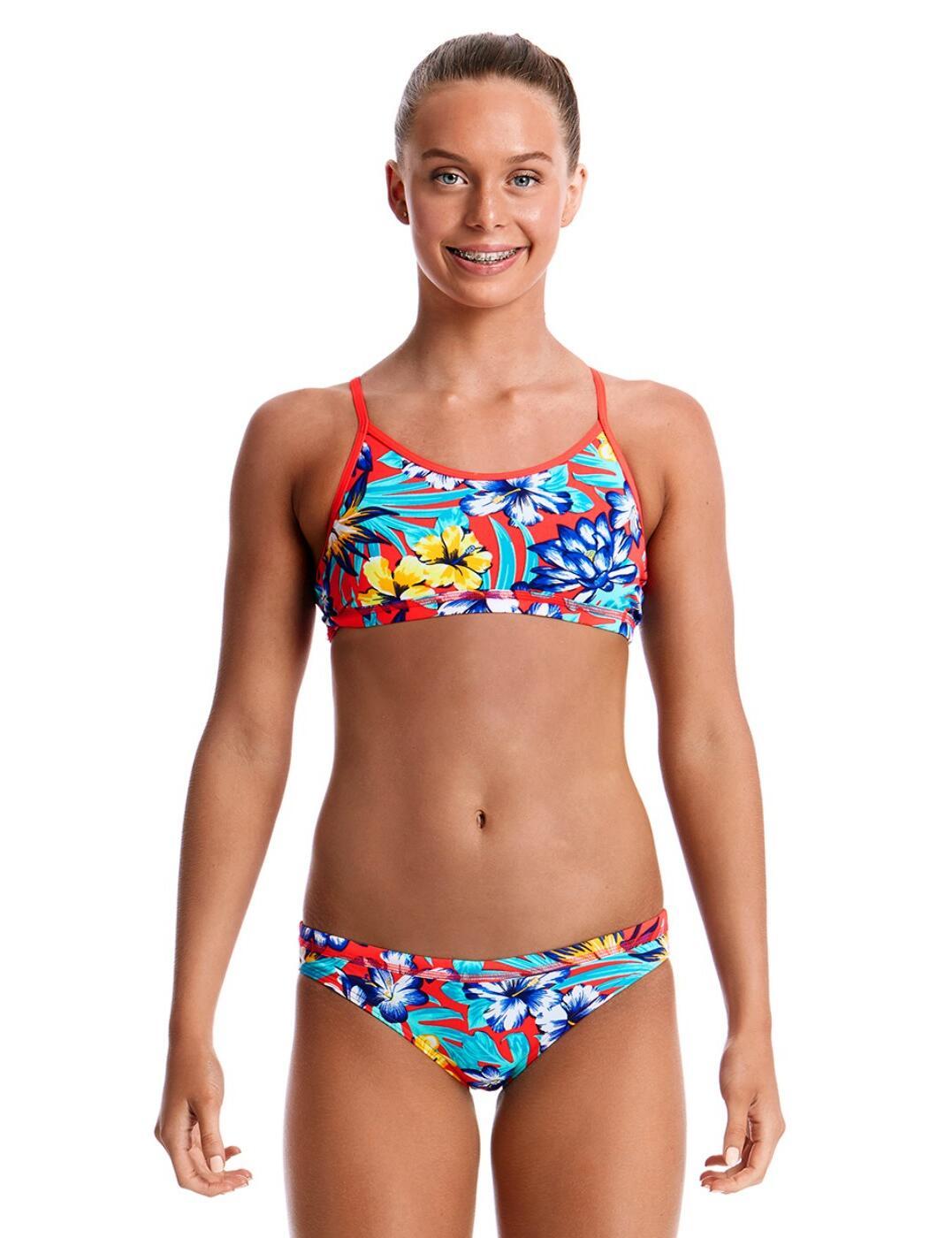 FS02G Funkita Girls Racerback Two Piece Bikini Set - FS02G02303 Aloha From Hawaii