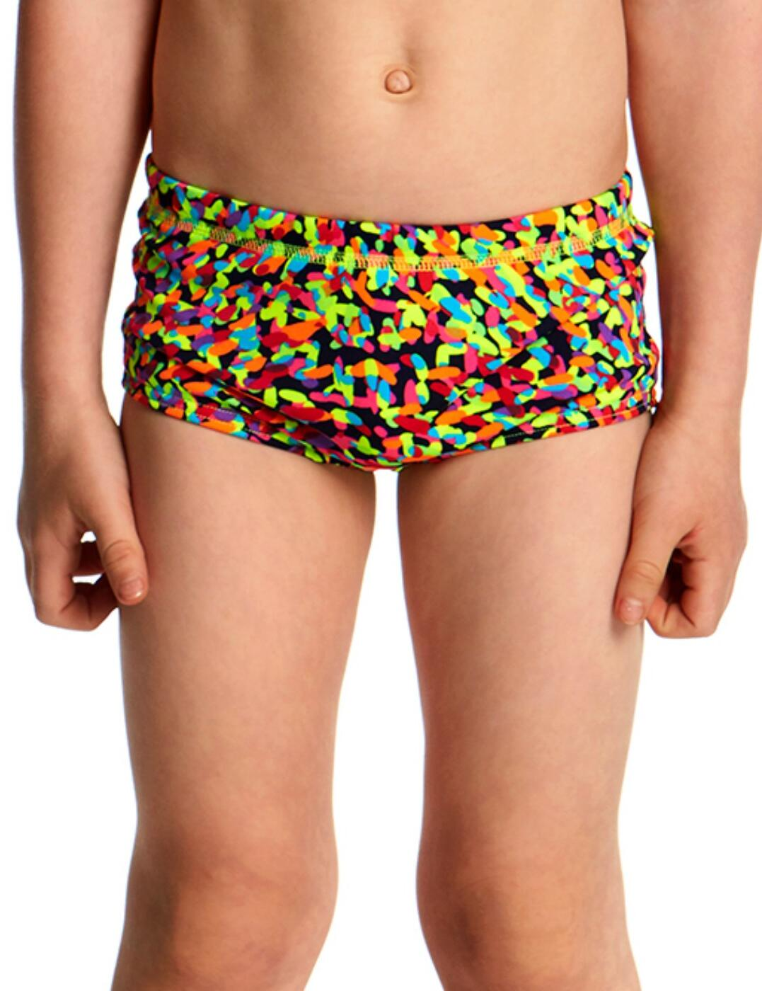 FT32T Funky Trunks Toddler Boys Printed Swim Trunks - FT32T01977 Fireworks