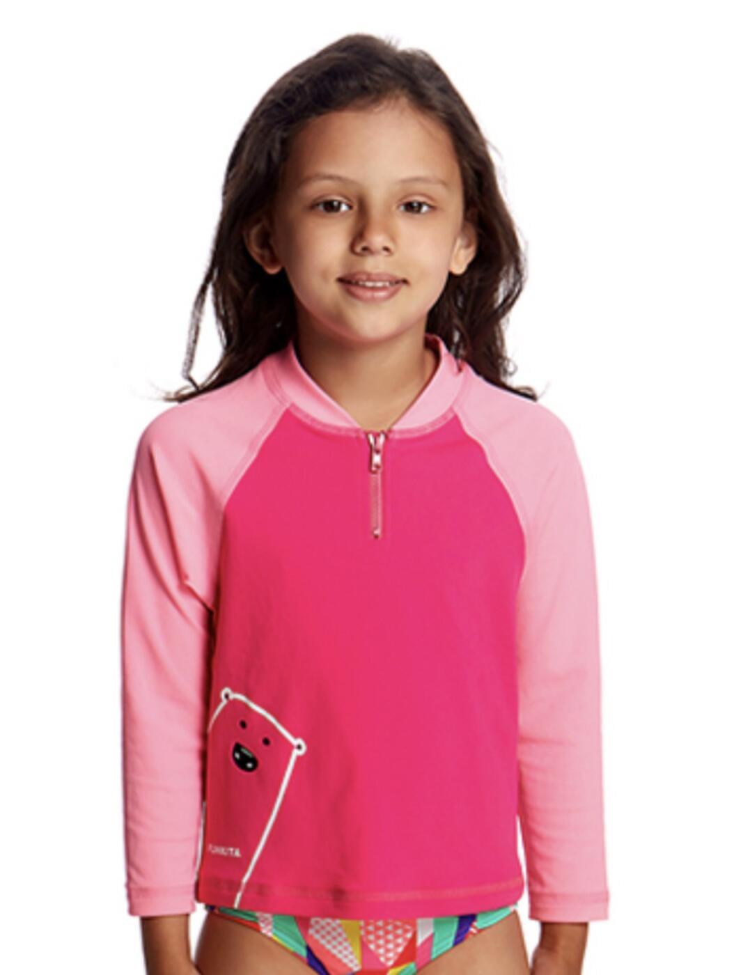 FKS004T01244 Funkita Toddler Girls Zippy Rash Swim Vest Top - FKS004T01244 Stare Bear