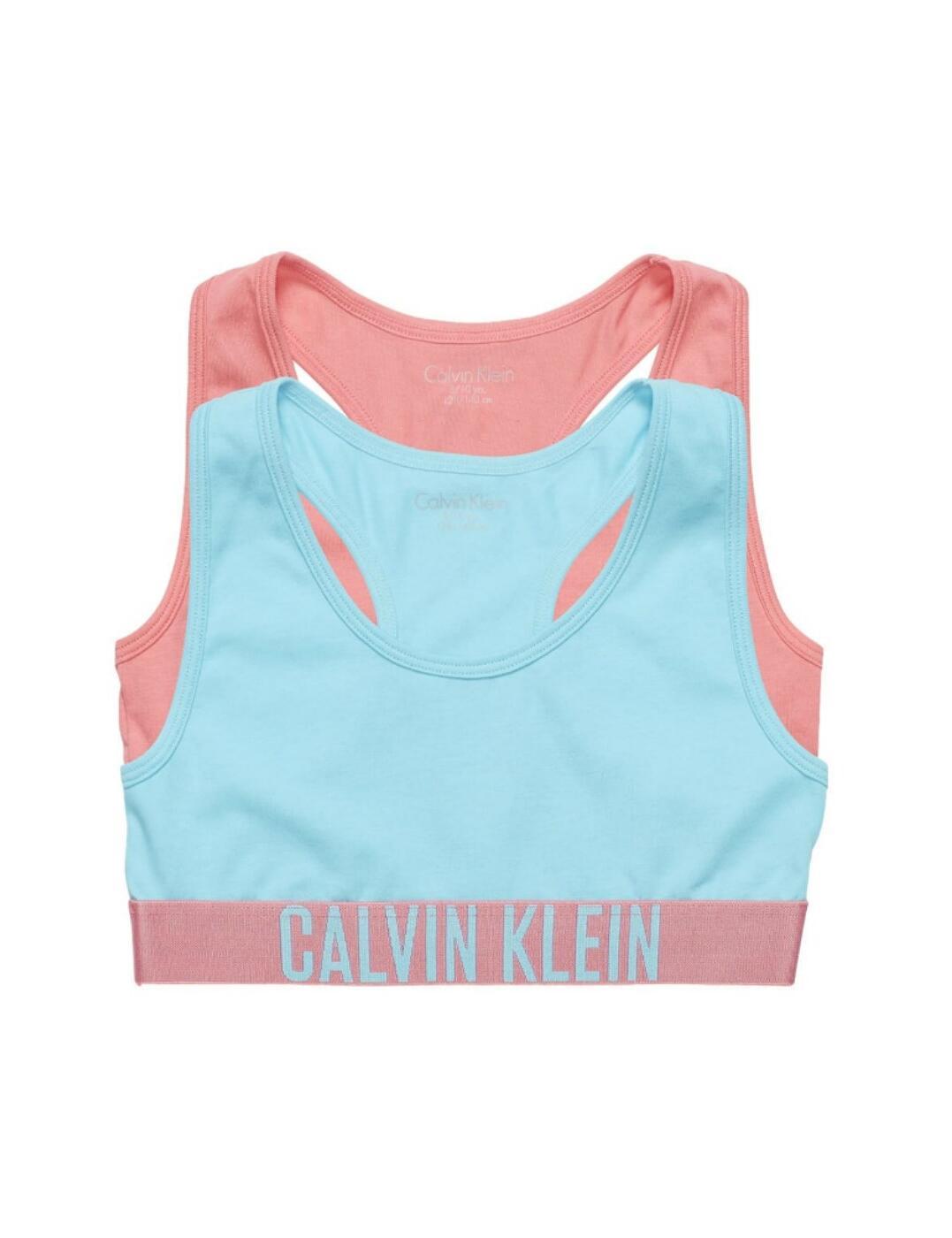 G80G800143 Calvin Klein Intense Power Girls 2 Pack Bralette - G80G800143 Pink Lemonade/Capri