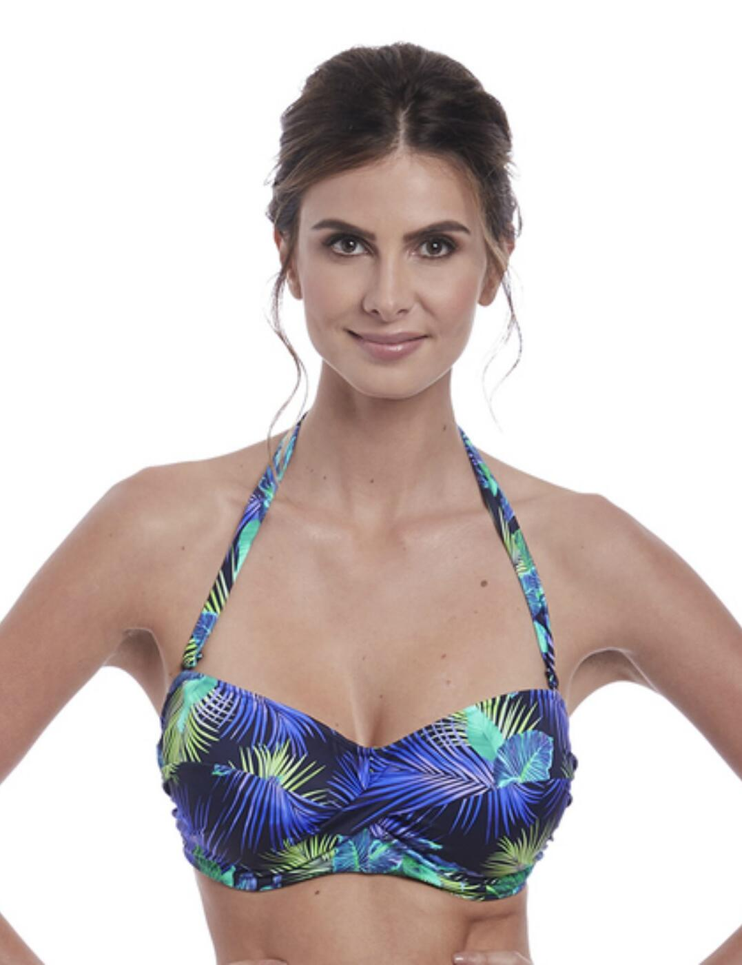 6732 Fantasie Coconut Grove Twist Bandeau Bikini Top - 6732 Ink