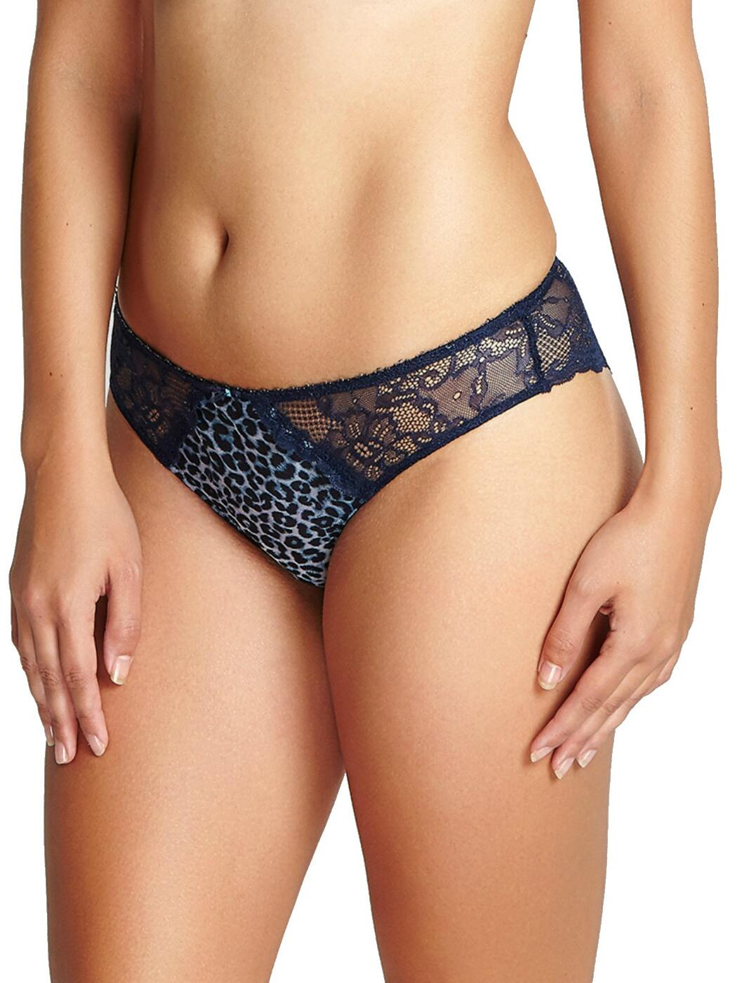 6953 Panache Jasmine Brazilian Brief - 6953 Animal Navy