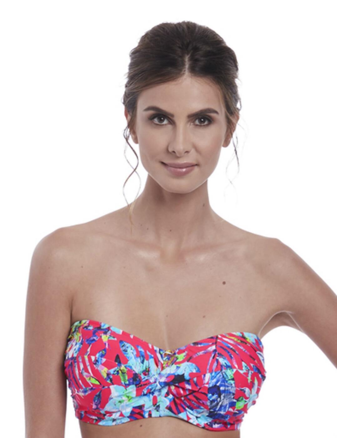 6541 Fantasie Fiji Twist Bandeau Bikini Top - 6541 Azalea