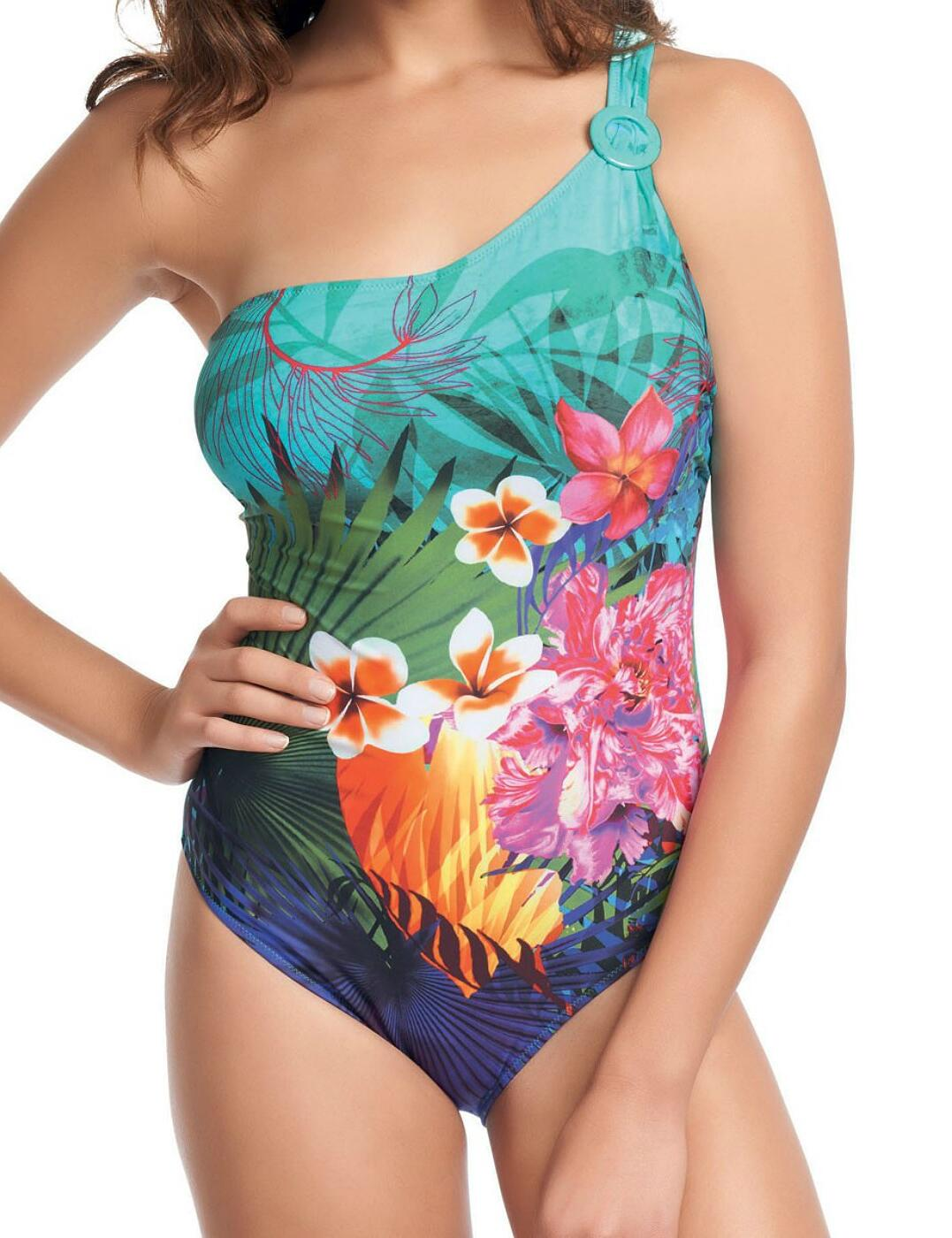 5966 Fantasie Dominica Underwired Asymmetric Swimsuit - 5966 Tropical Print