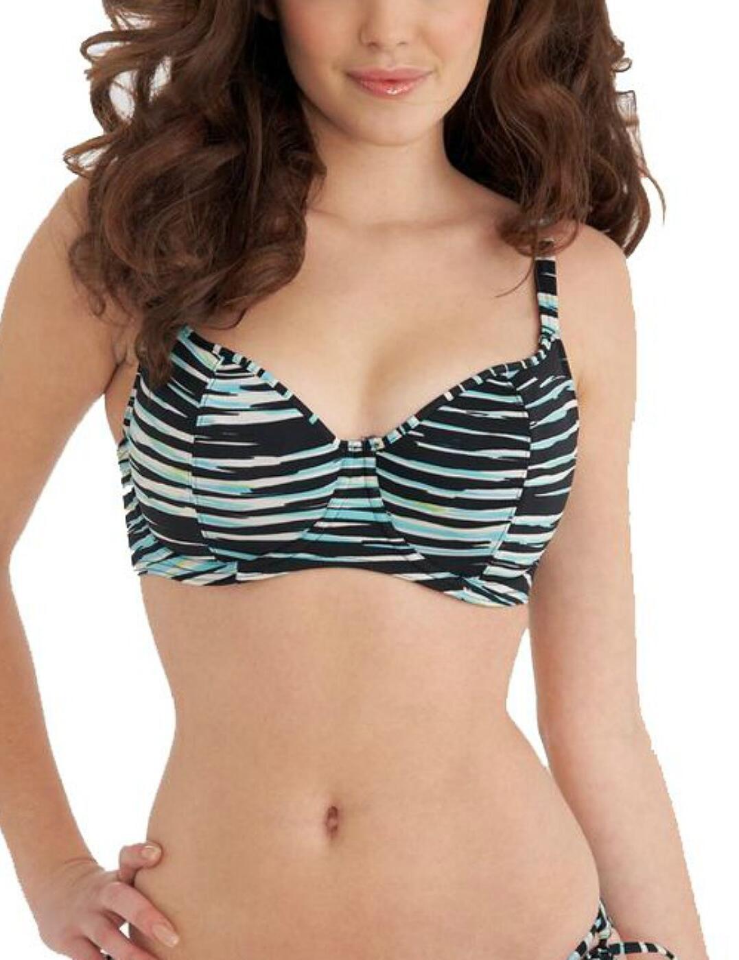 3128 Freya Illusion Underwired Plunge Bikini Top - 3128 Black