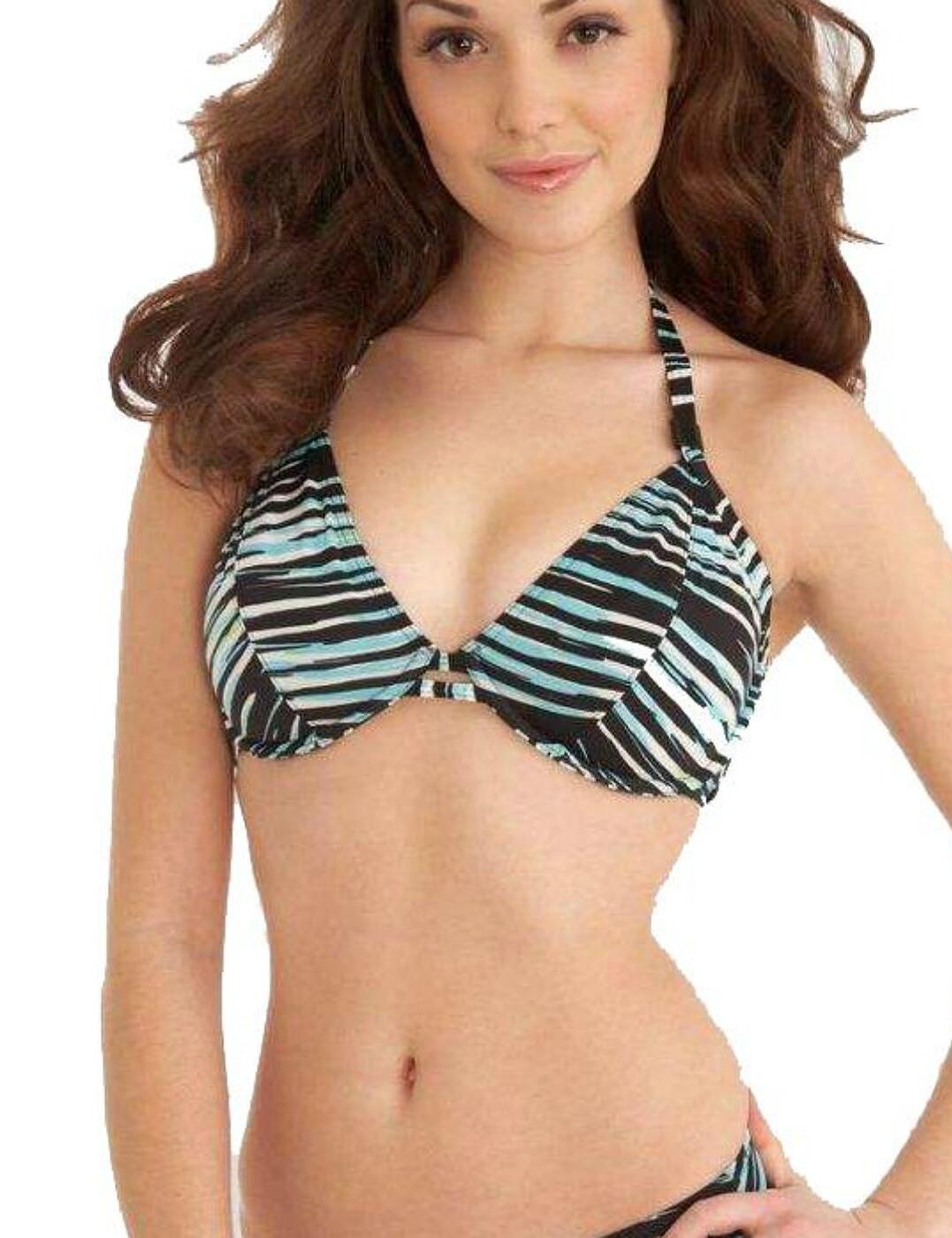 3129 Freya Illusion Halter Bikini Top - 3129 Black