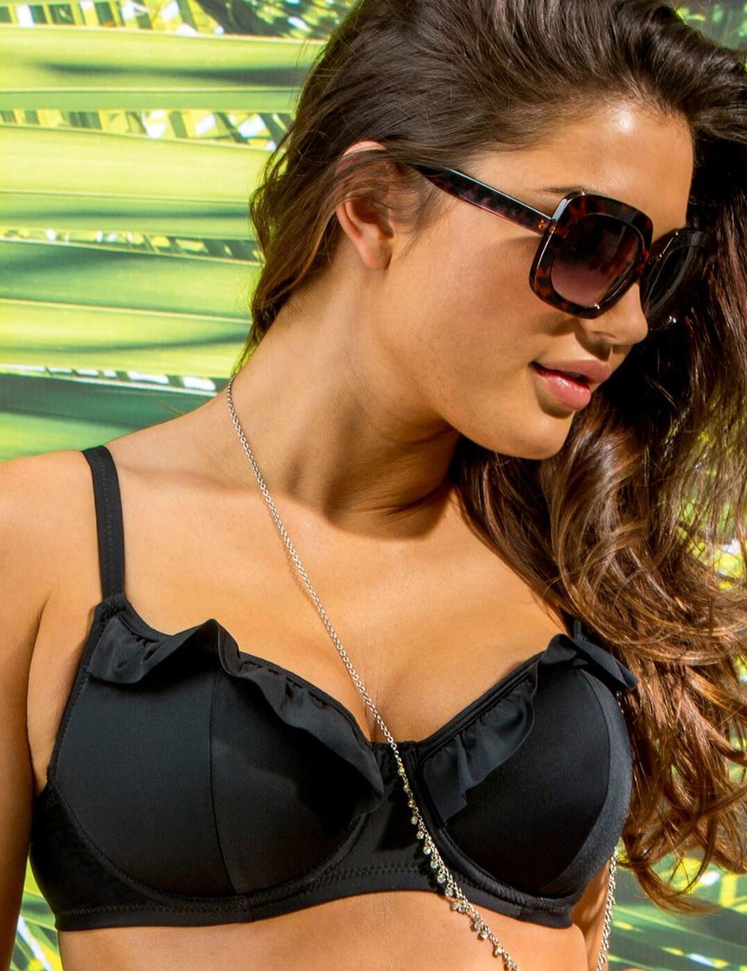37000 Pour Moi Fiesta Sweetheart Padded Bikini Top - 37000 Black