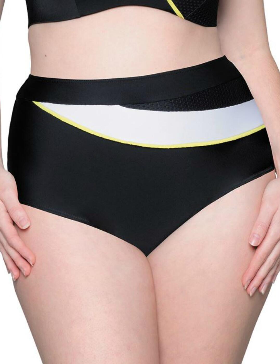 CS7505 Curvy Kate Graphic Beach High Waist Bikini Brief - CS7505 Monochrome