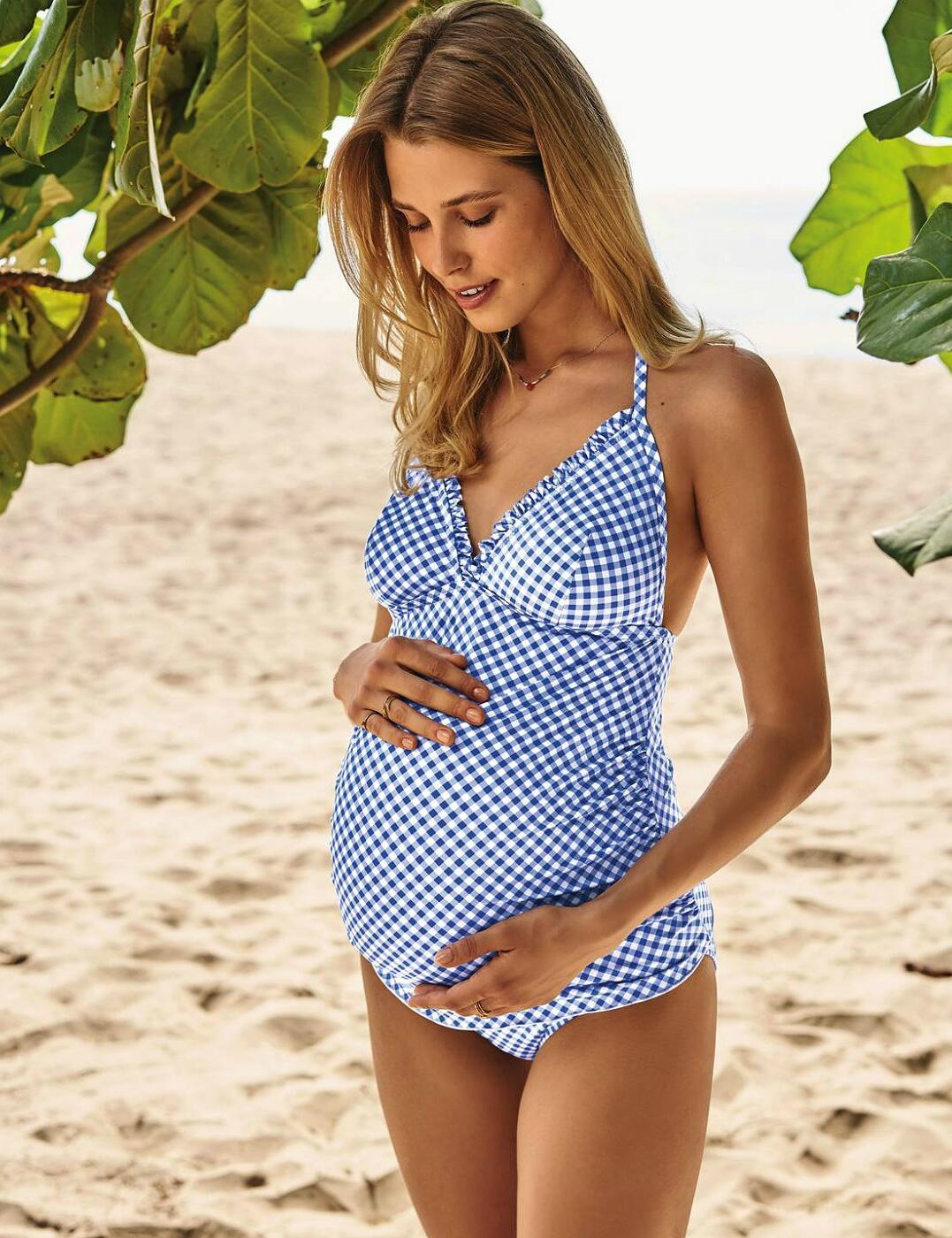 9606 Anita Maternity Kamaka Maternity Two-Piece Set - 9606 Blue