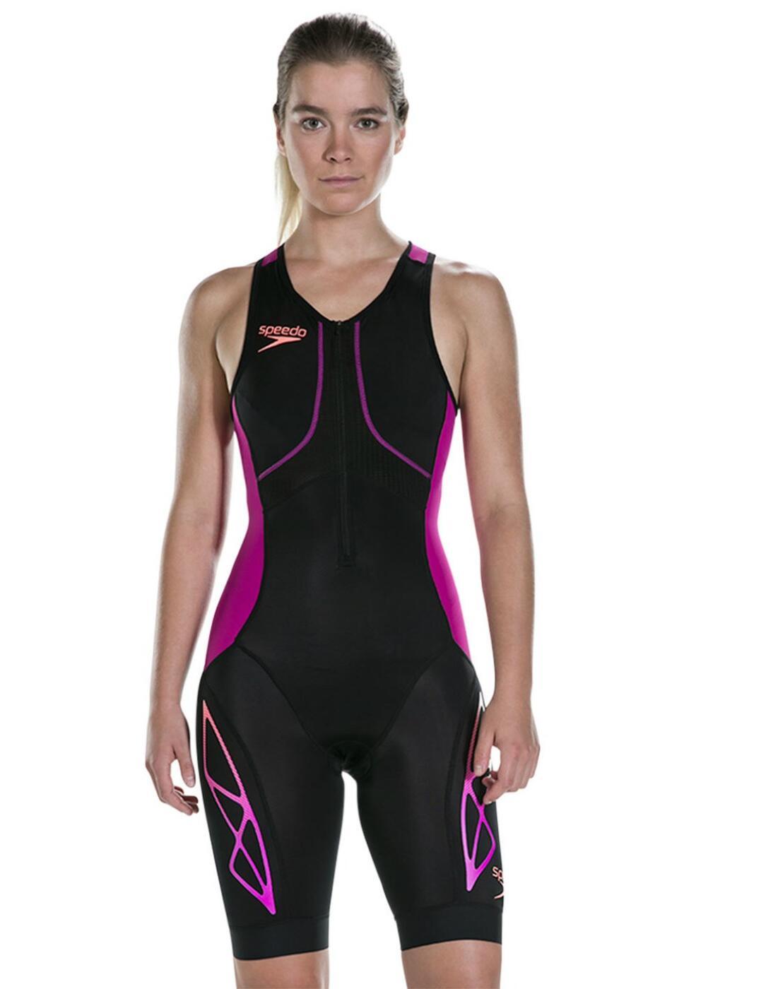 811422C148 Speedo Fastskin Xenon Female Tri Suit - 811422C148 Black/Fuchsia