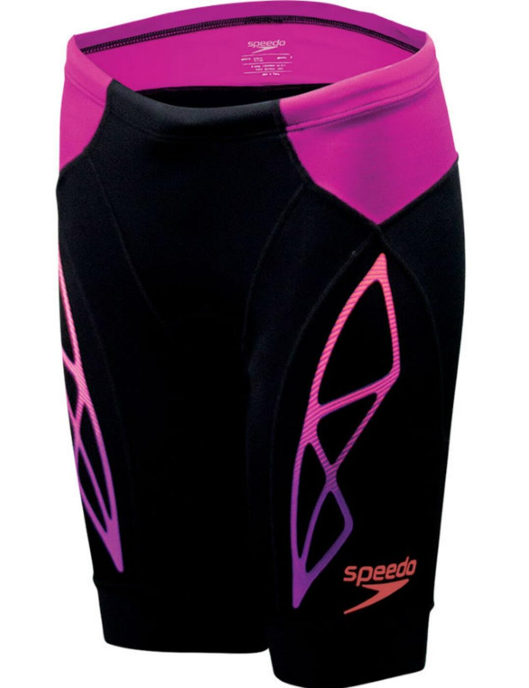 811426C148 Speedo Fastskin Xenon Triathlon Short  - 811426C148 Black/Fuchsia