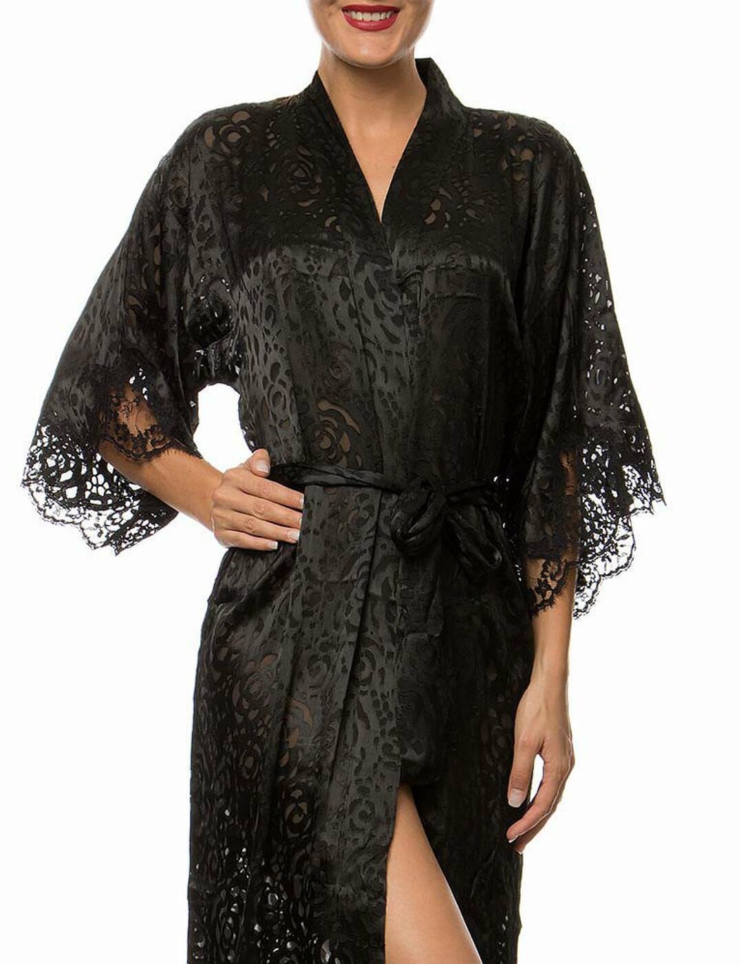 ALC2088 Lise Charmel Dressing Floral Robe - ALC2088 Noir