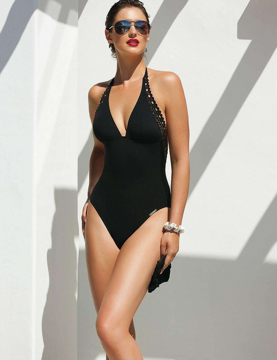 ABA9815 Lise Charmel Ajourage Couture Swimsuit - ABA9815 Noir