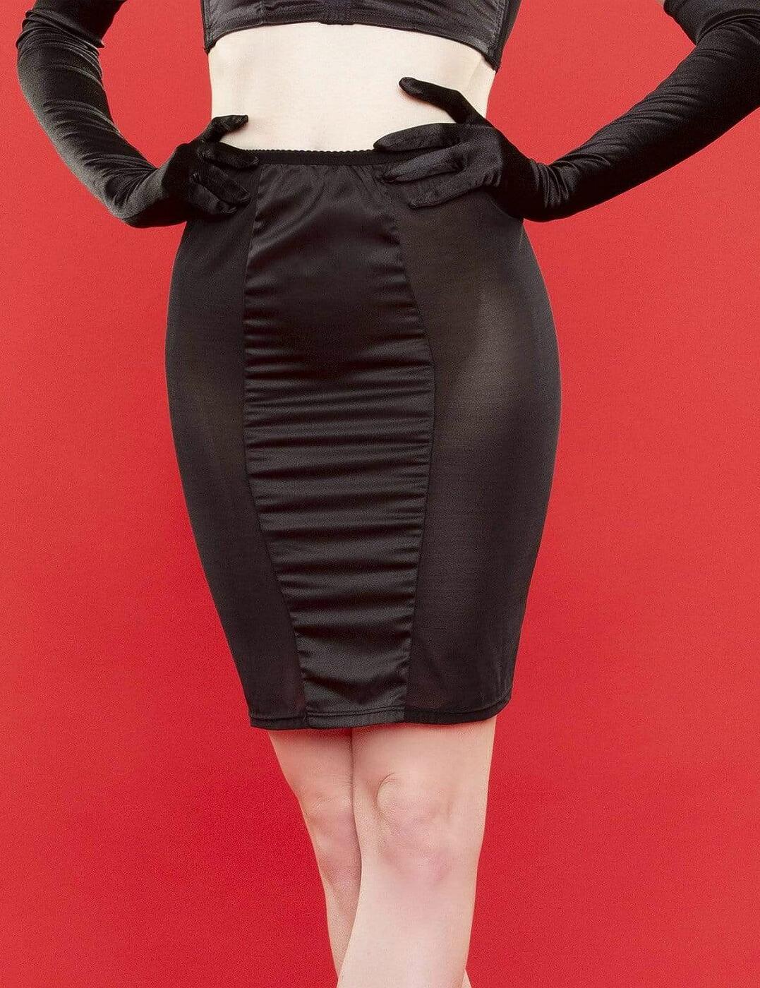 BP031T Playful Promises Bettie Page Tassle Lingerie Skirt - BP031T Black