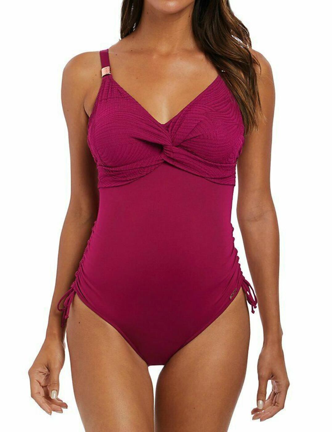 6360 Fantasie Ottawa Twist Front Swimsuit - 6360 Mulberry