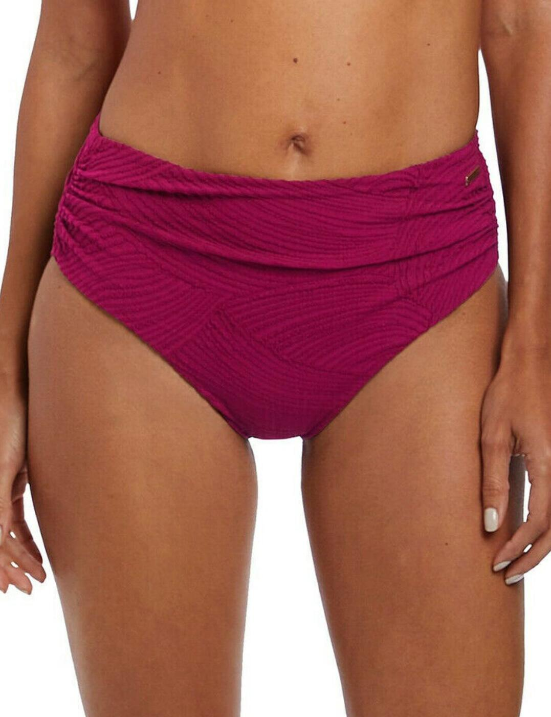 6363 Fantasie Ottawa Gathered Deep Bikini Brief - 6363 Mulberry