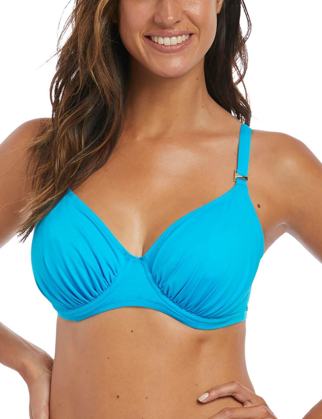 6549 Fantasie Paradise Bay Gathered Full Cup Bikini Top - 6549 Aqua