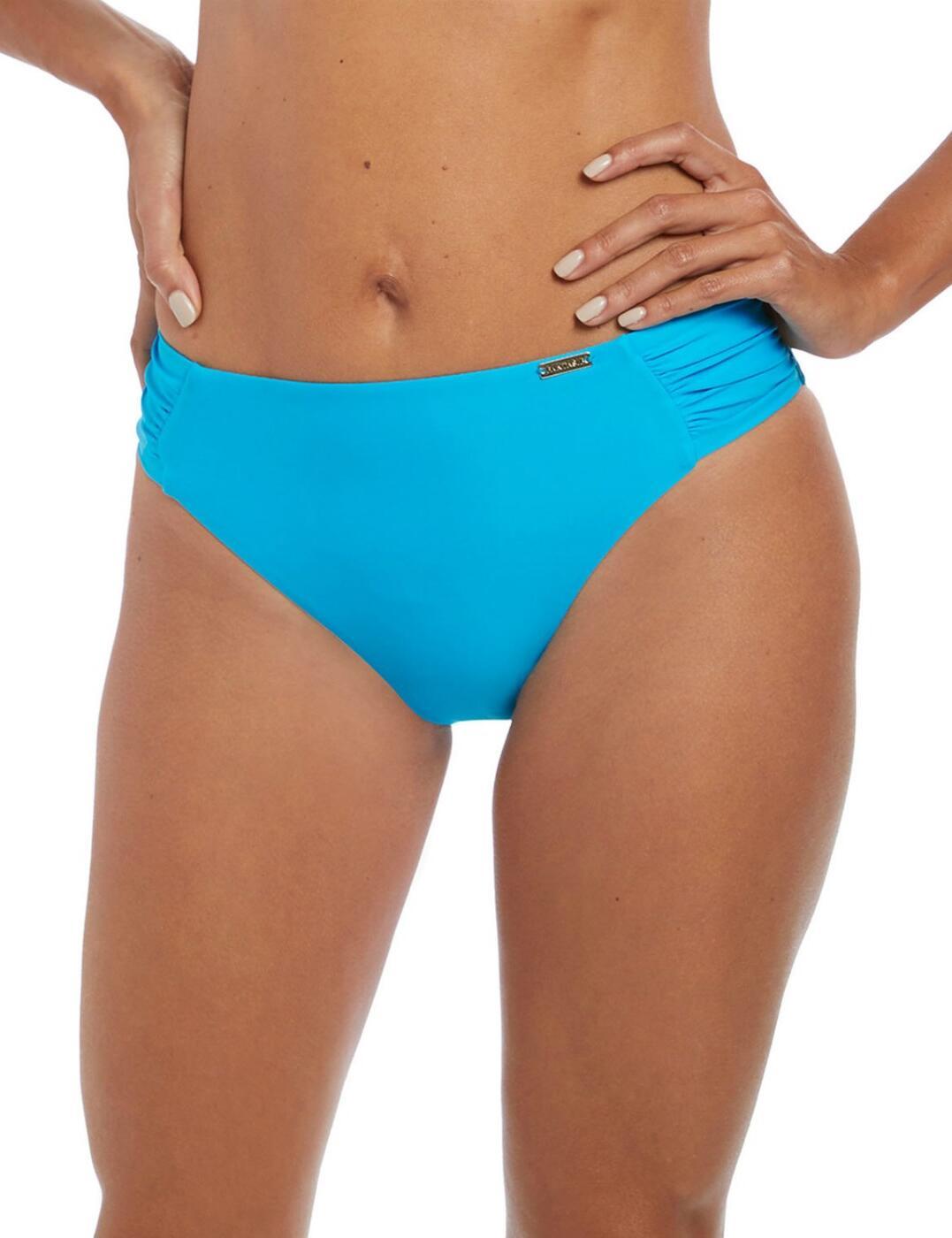 6550 Fantrasie Paradise Bay Mid Rise Bikini Brief - 6550 Aqua