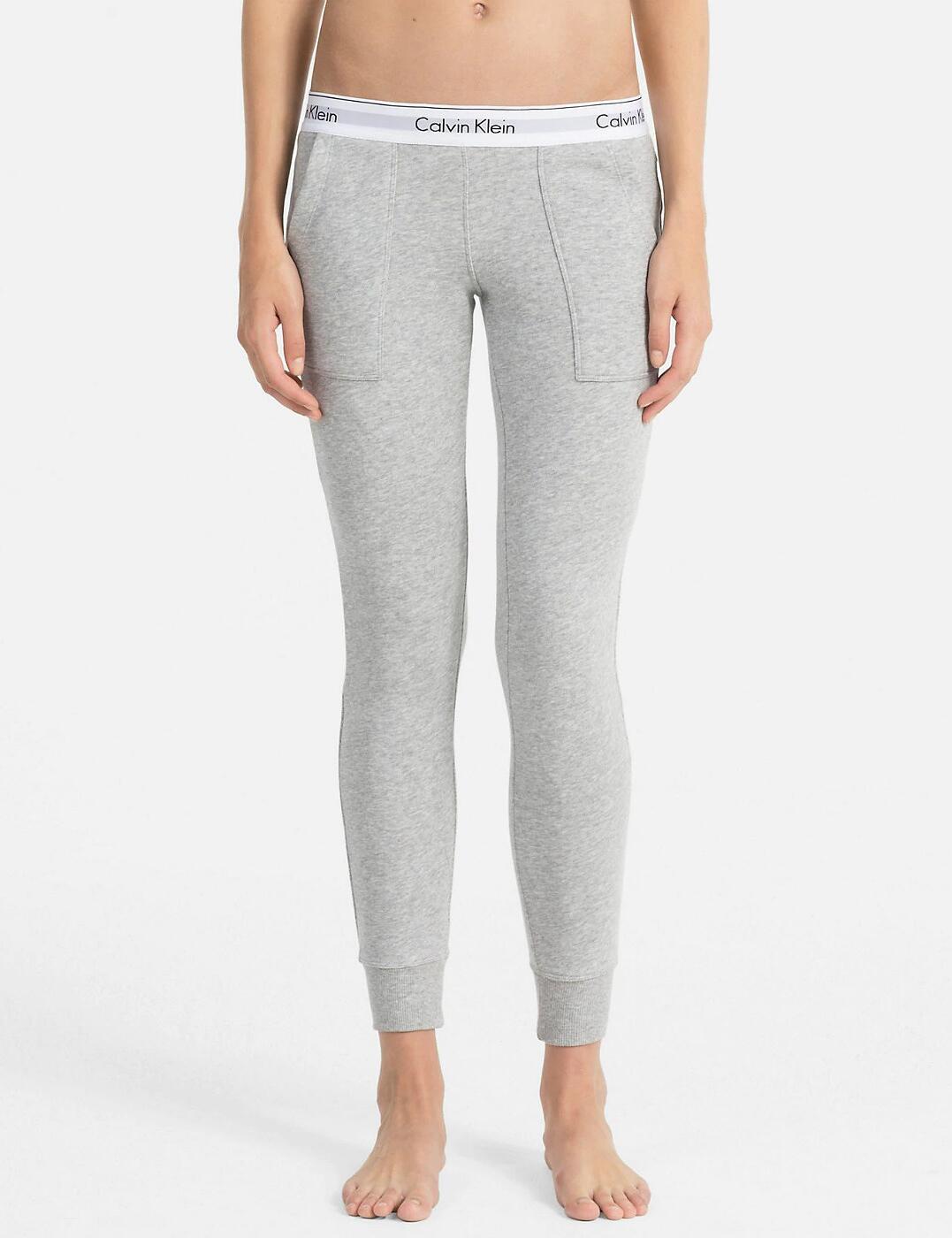 QS5716E Calvin Klein Modern Cotton Lounge Joggers  - QS5716E Grey Heather