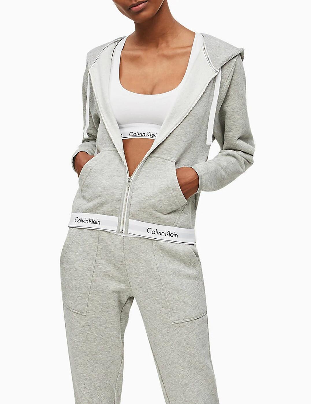QS5667E Calvin Klein Modern Cotton Lounge Hoodie - QS5667E Grey Heather