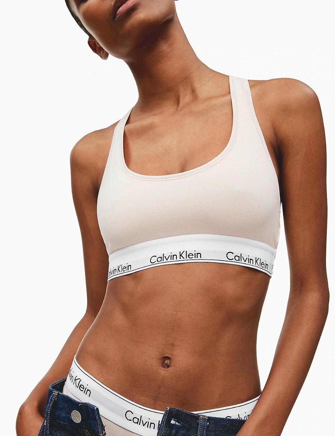 0000F3785E Calvin Klein Modern Cotton Bralette Bra Top - F3785E Nymphs Thigh