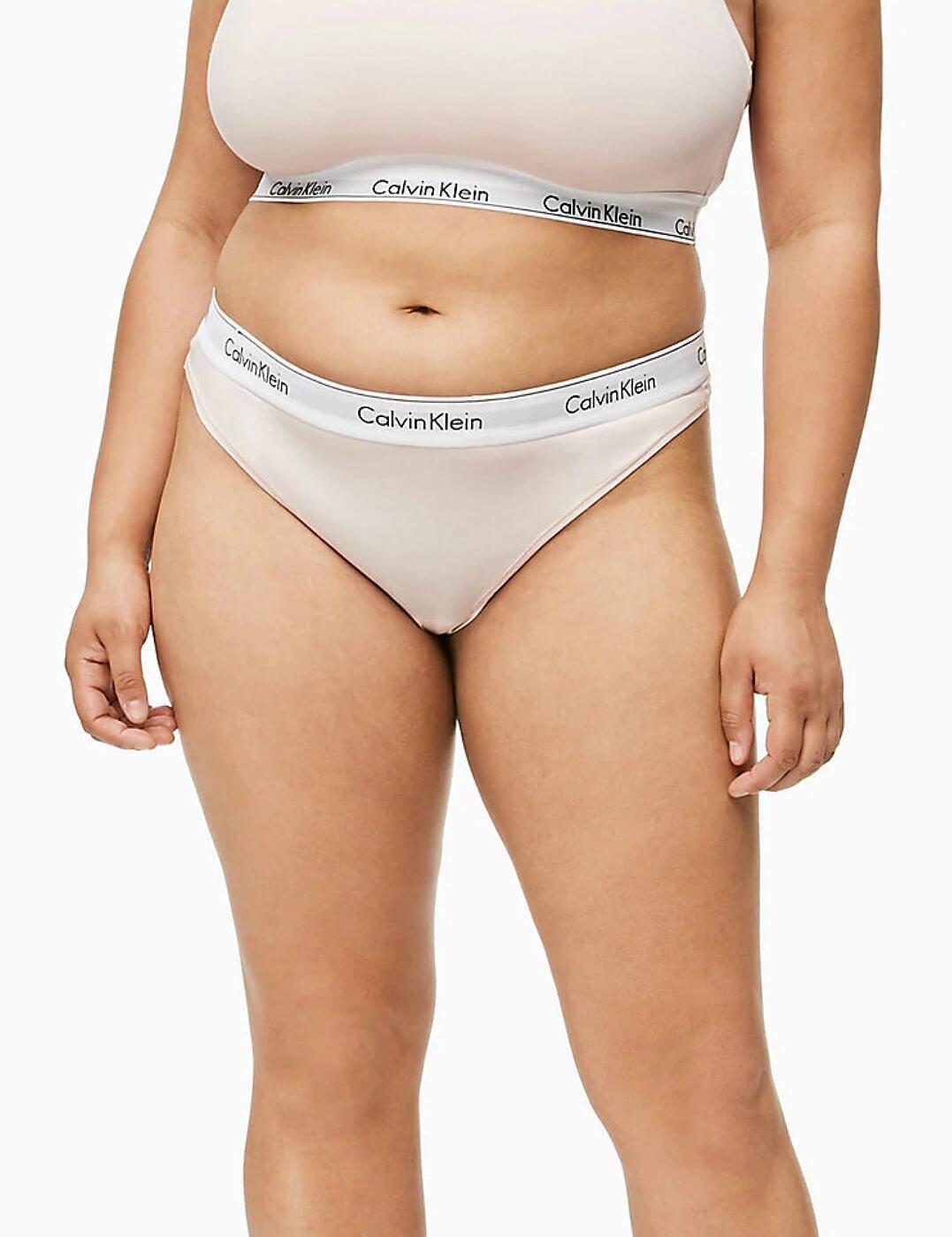 QF5117E Calvin Klein Modern Cotton Plus Thong Brief - QF5117E Nymphs Thigh