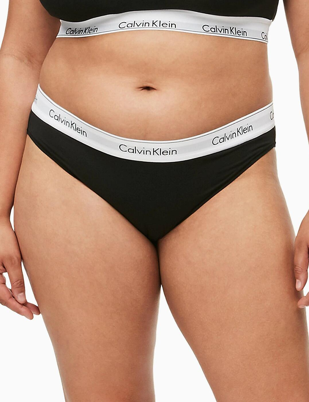 QF5644E Calvin Klein Modern Cotton Plus Bikini Brief Style - QF5644E Black