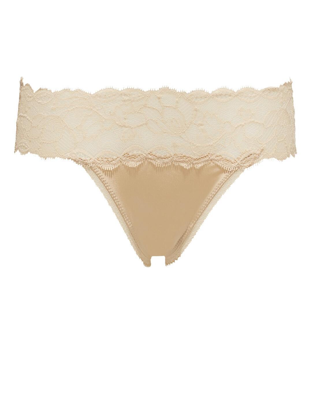QF1199E Calvin Klein Seductive Comfort Lace Thong Brief - QF1199E Bare