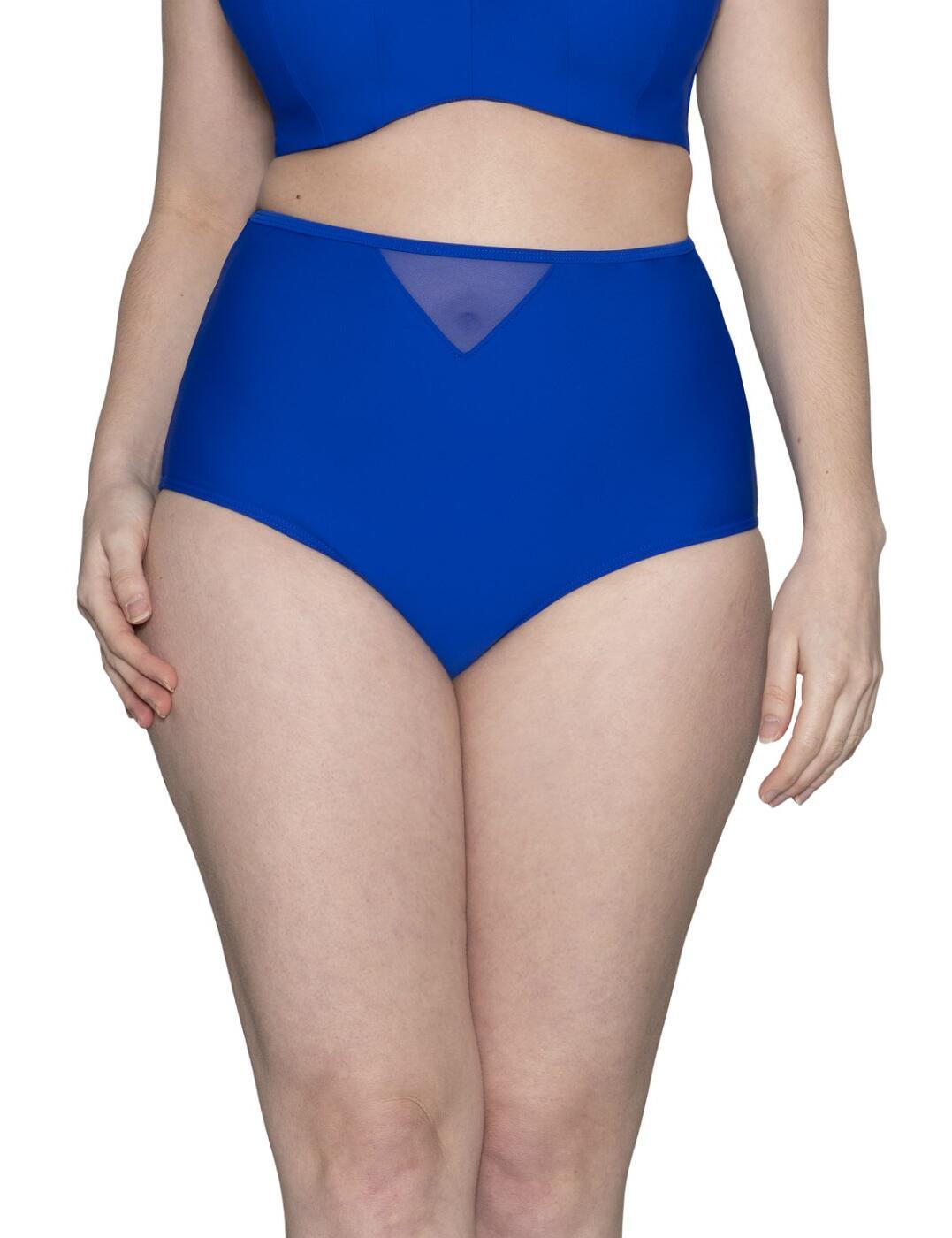 CS001505 Curvy Kate Sheer Class High Waist Bikini Brief - CS001505 Cobalt