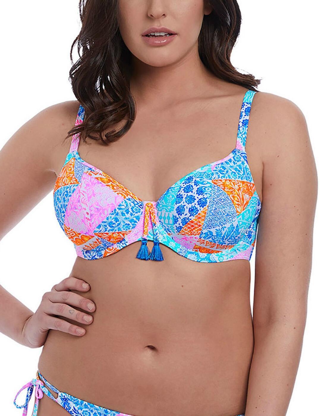 6570 Freya Festival Girl Underwired Plunge Bikini Top - 6570 Multi