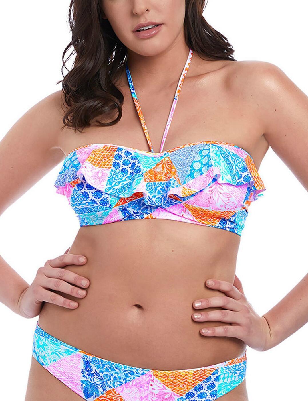 6571 Freya Festival Girl Bandeau Bikini Top - 6571 Multi