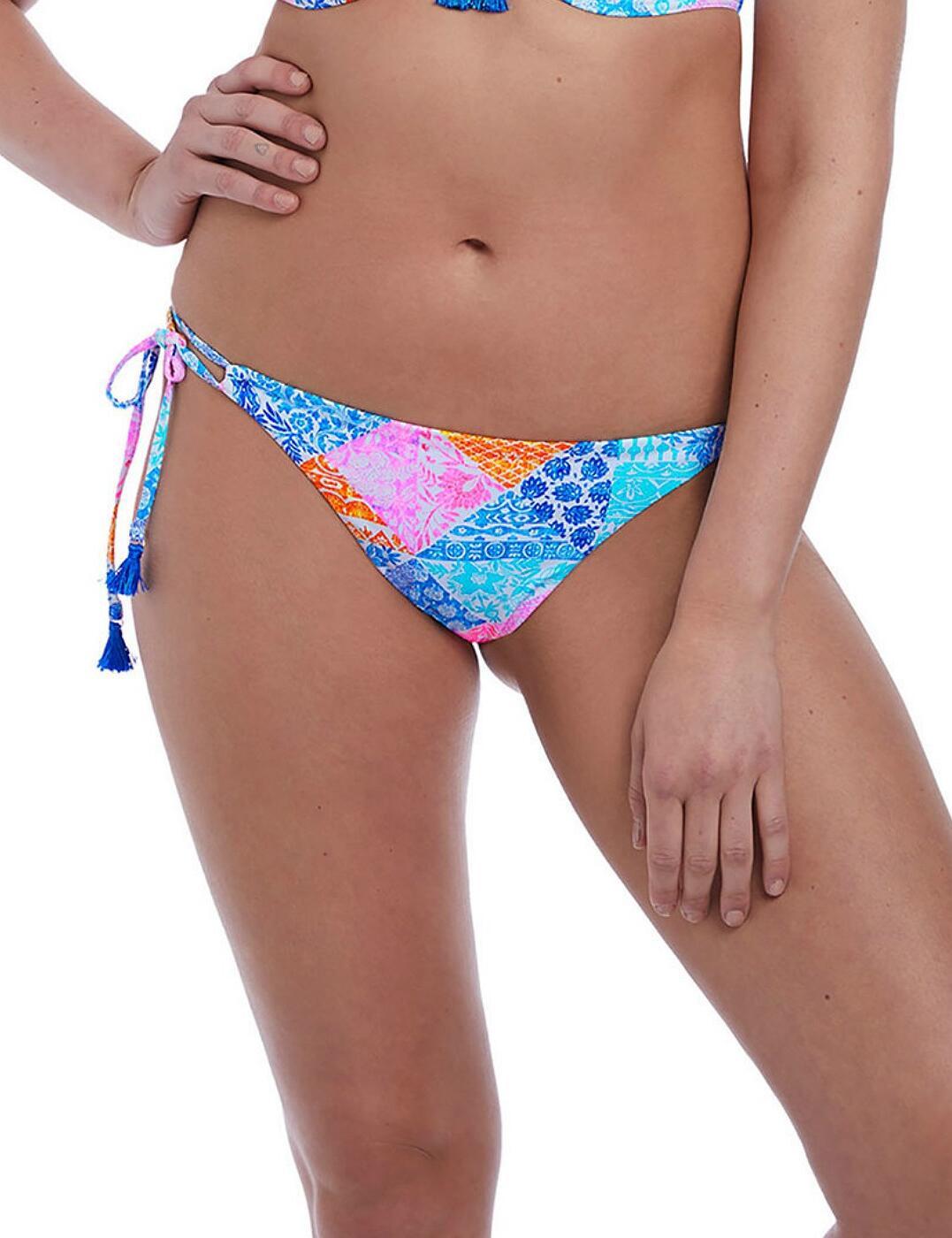 6572 Freya Festival Girl Rio Tie Side Bikini Brief - 6572 Multi
