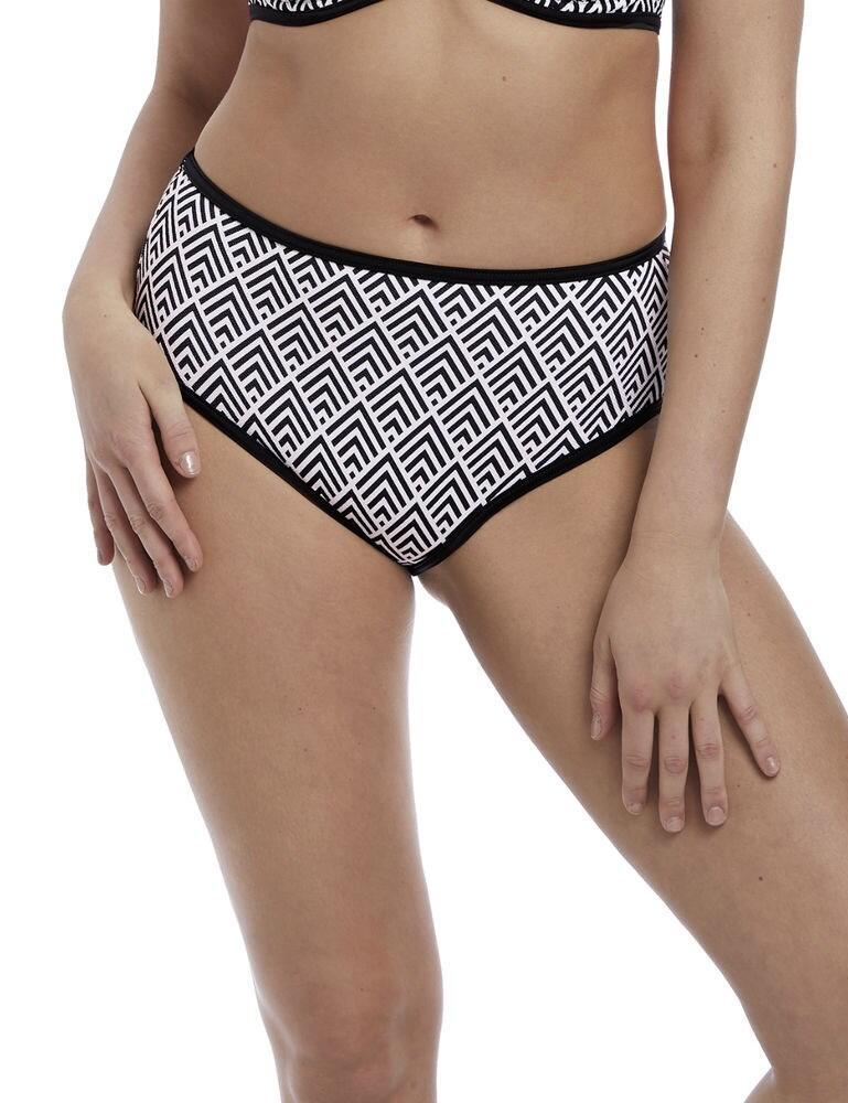 5866 Freya Gatsby High Waist Bikini Brief - 5866 Monochrome