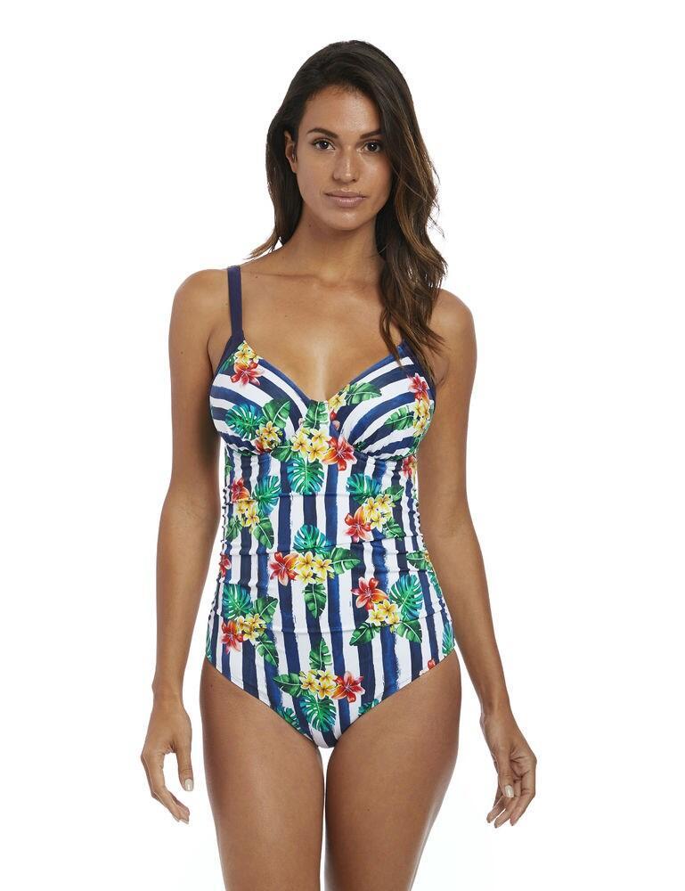 6678 Fantasie Porto Gathered Plunge Swimsuit - 6678 Twilight