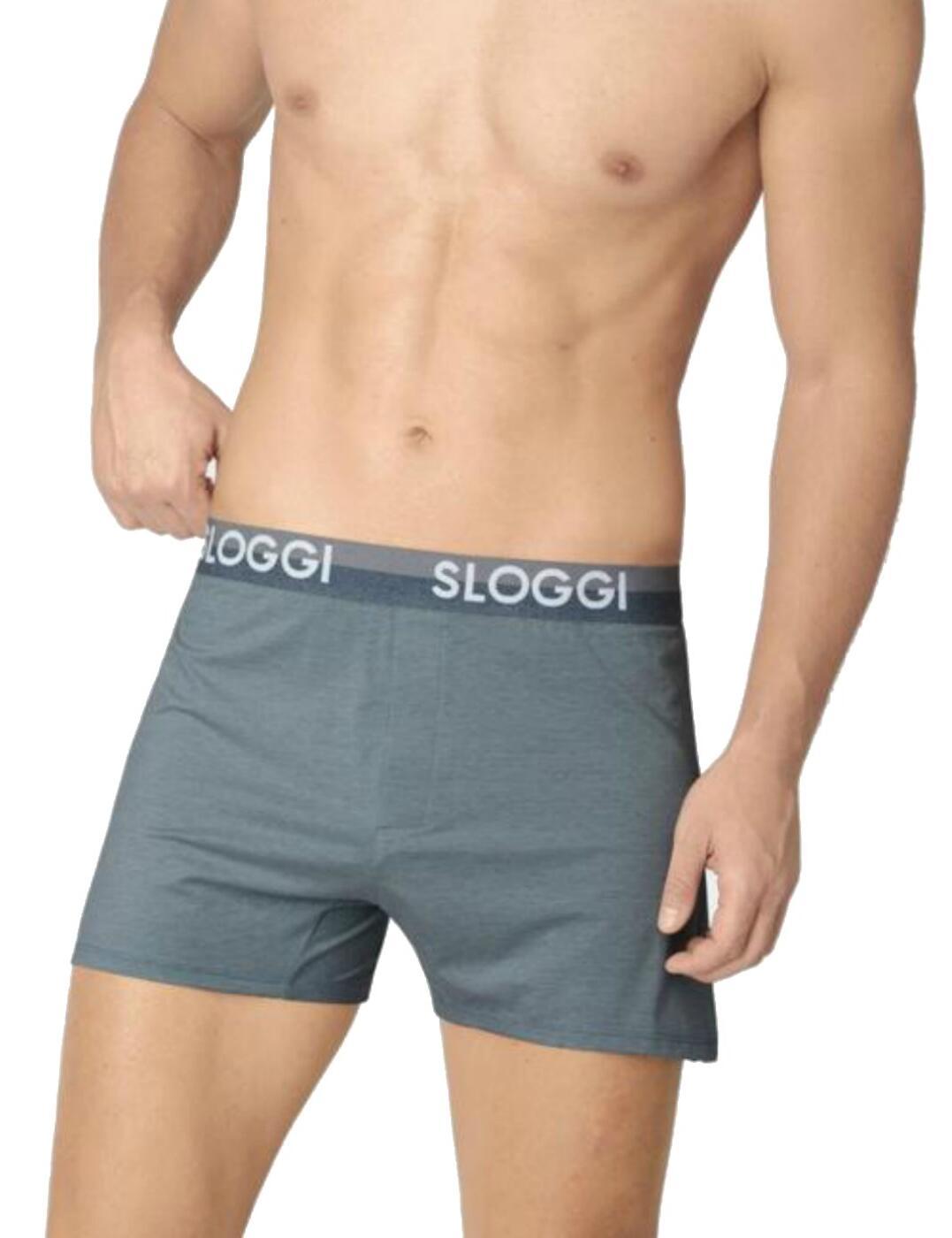 10198050 Sloggi Men Slim Fit Boxer  - 10198050 Secret Lagoon