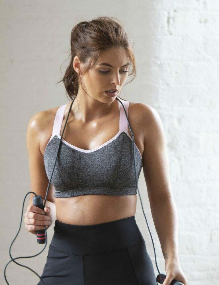 97003 Pour Moi Energy Convertible Sports Bra - 97003 Grey/Pink