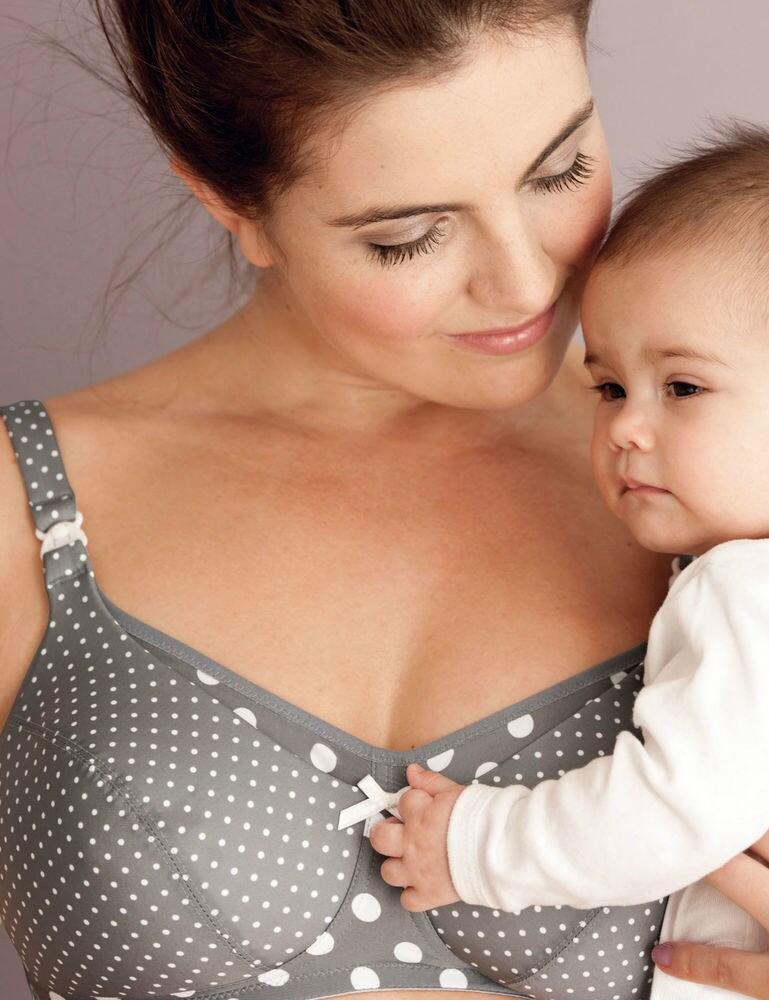 5034 Anita Maternity Polka Dot Padded Nursing Bra - 5034 Stone