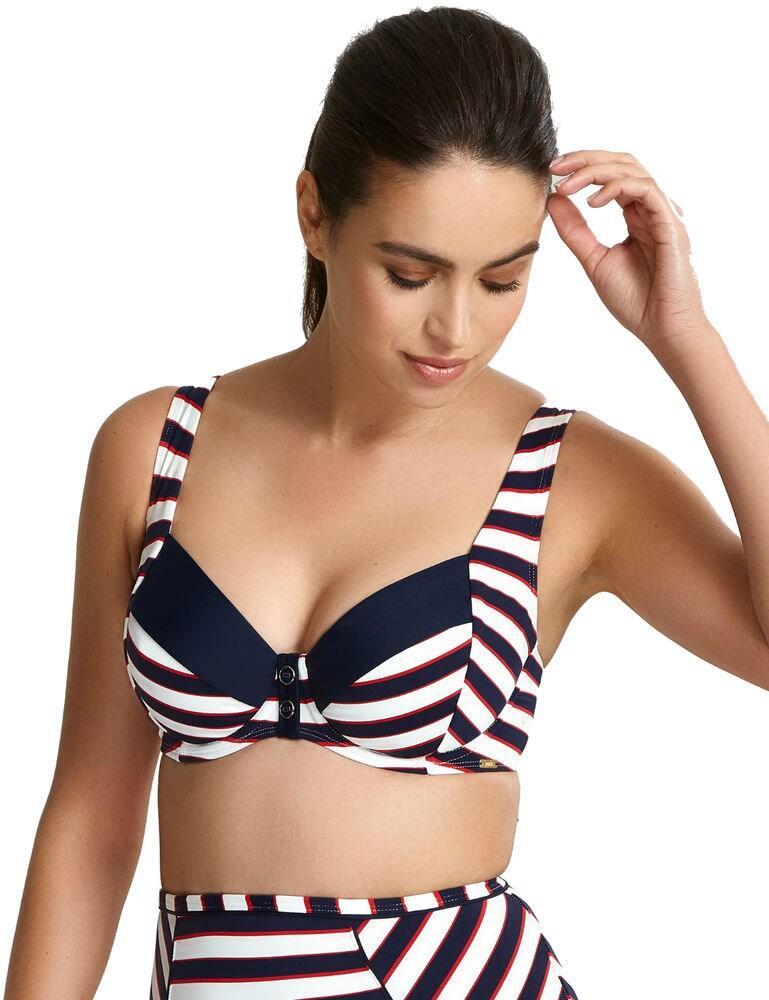 SW1372 Panache Lucille Balcony Bikini Top - SW1372 Navy Stripe