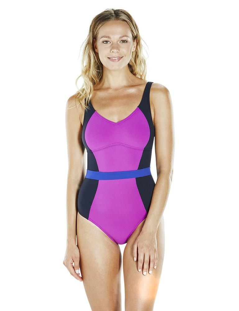810832C225 Speedo Sculpture Crystal Gleam Swimsuit - 810832C225 Navy/Purple
