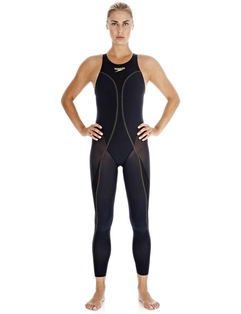 8082378398 Speedo Female Elite Open Water Recordbreaker Legskin - 8082378398 Navy
