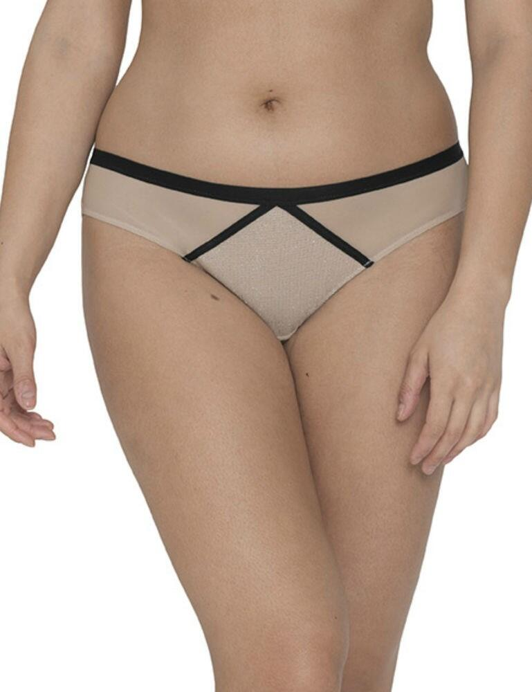CK013202 Curvy Kate Sparks Fly Brazilian Brief - CK013202 Latte/Silver