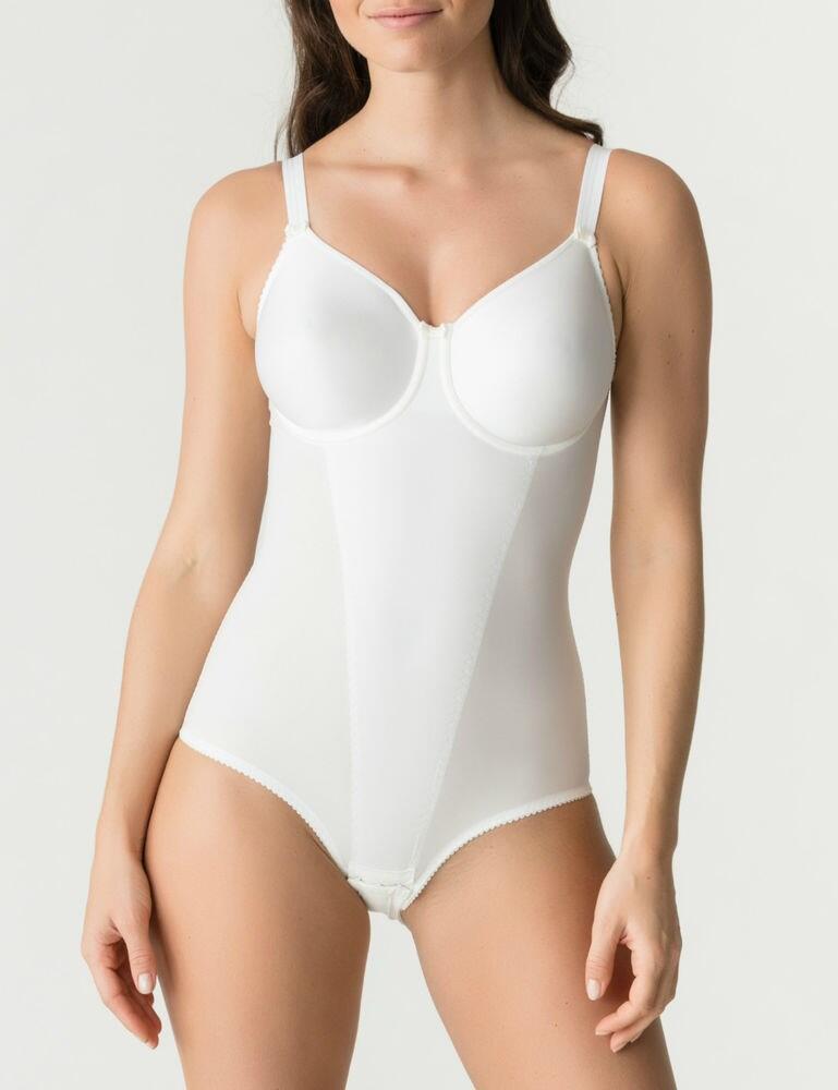 0461330 Prima Donna Satin Bodysuit - 0461330 Natural