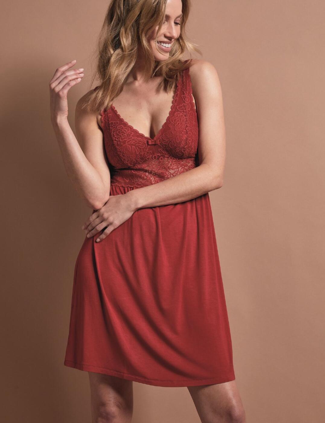 10198965 Triumph Amourette Spotlight Night Dress - 10198965 Spicy Red