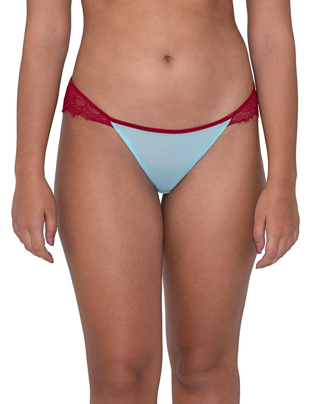 CK028202 Curvy Kate Lifestyle Lace Brazilian Brief - CK028202 Blue/Red