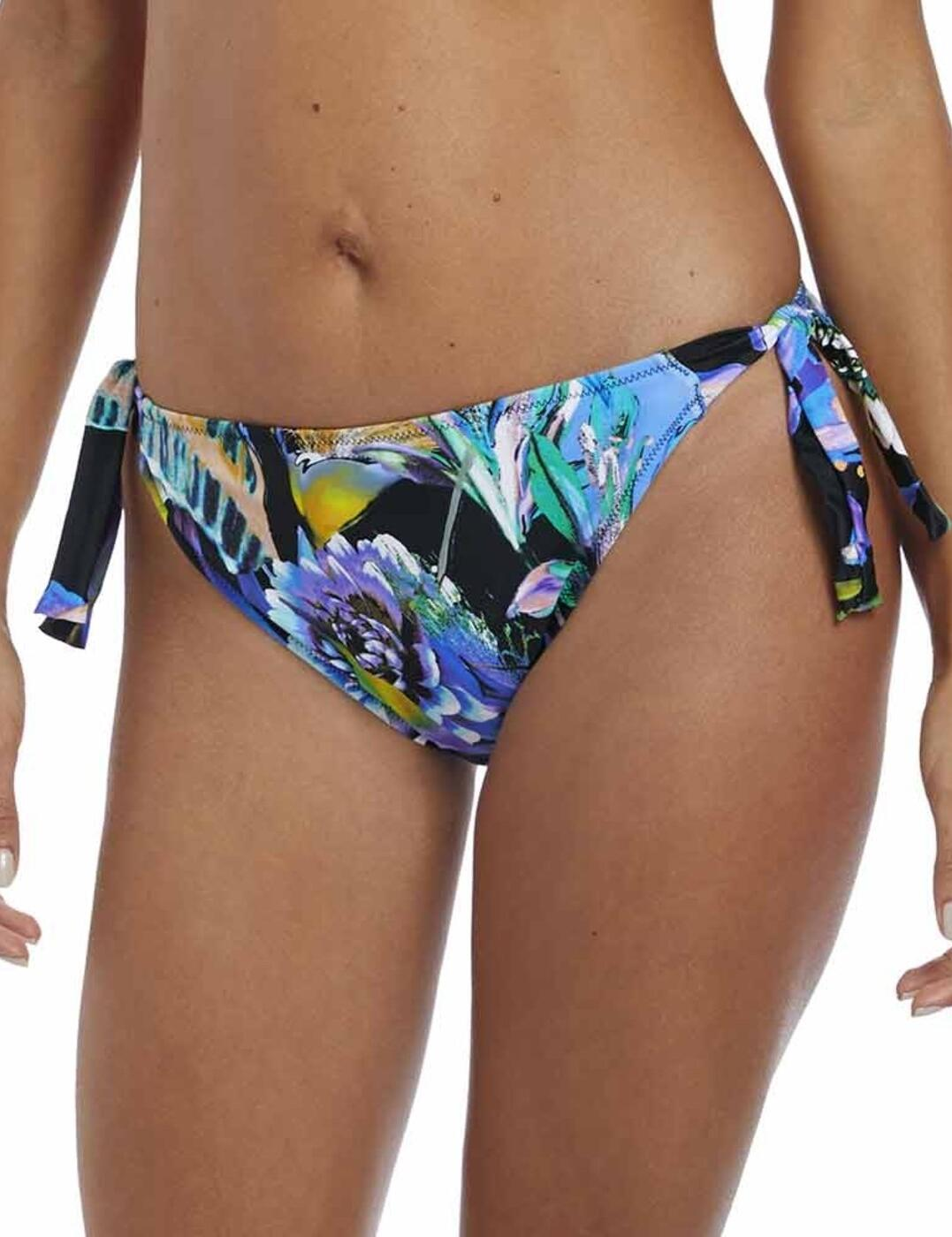 6478 Fantasie Paradise Bay Classic Tie Side Bikini Brief - 6478 Aqua Multi